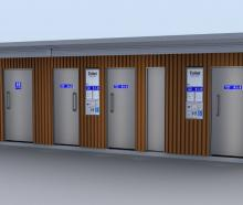 An artist's impression of the new toilet blocks in Campbells Bay, which features three toilets,...