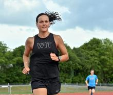 Rebekah Greene trains at the Caledonian Ground after breaking the Otago senior women's 5000m...