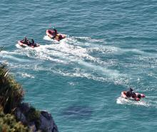 Continuing the search yesterday are Surf Life Saving New Zealand, search and rescue teams and the...