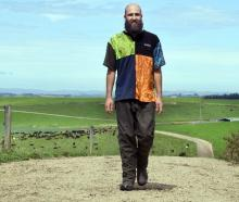 Italian traveller Alberto Candido, who helped out with the community flood response in West Otago...