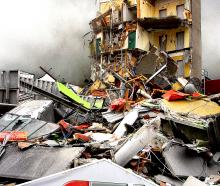 The CTV Building collapsed in the February 22, 2011, earthquake. Photo: Geoff Sloan
