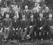 Members of the committee who organised and carried out the Dunedin and Port Chalmers watersiders'...