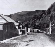The Portobello Rd toll gate near Macandrew Bay in the 1890s. PHOTO: OTAGO PENINSULA MUSEUM