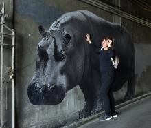 Moria Rogina (30), of Croatia,  on her travels yesterday finds one of the animals French artist...