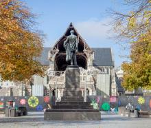 Godley Statue, Cathedral Square.