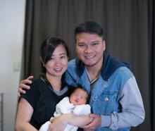 Charize Villapando gave birth to Calvin Jacob last Friday, but her husband Jefferson was not...
