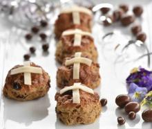 Quicker to make than your average bun, try these hot cross scones. PHOTO PETER MCINTOSH