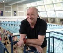 Swimming coach Lars Humer at Moana Pool in 2018. Photo: Linda Robertson