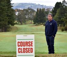 Otago Golf Club course superintendent Craig Parata at a closed course yesterday. PHOTO: PETER...