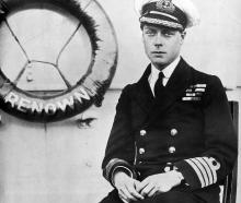 Edward, Prince of Wales on board HMS Renown for his tour of New Zealand. — 