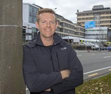 Jeremy Duggan outside Christchurch Hospital. Photo: Geoff Sloan