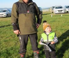 Learning on the job th.th.th. Clay Clark (2) was excited to accompany his grandfather Cameron...