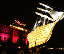 A giant lantern in the shape of a ship. Photos: Stephen Jaquiery/Christine O'Connor