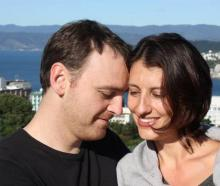 Lecretia Seales with her husband Matt Vickers in 2011, a few days after she was diagnosed with...