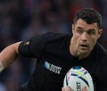Dan Carter in action for the All Blacks during the 2015 World Cup. Photo: Brett Phibbs