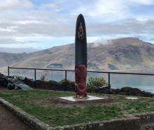 A new pou whenua carved by Caine Tauwhare. Photo: Facebook