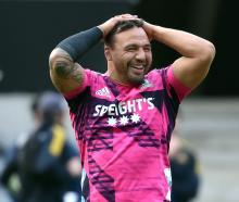 Highlanders captain and hooker Ash Dixon at training earlier this week. PHOTO: PETER MCINTOSH