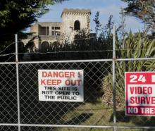 Signs outside Cargill's Castle warn visitors against entering. PHOTO: GERARD O'BRIEN