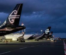 Air New Zealand planes parked up at Auckland Airport during the Covid-19 pandemic. Photo:...