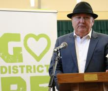 Infrastructure Minister Shane Jones announces $4million for shovel-ready projects in Gore. PHOTO:...