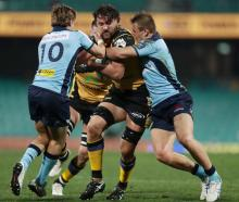 Jeremy Thrush of the Western Force in action during the round 2 Super Rugby AU match between the...