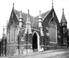 Trinity Methodist Church, Stuart St. —  Otago Witness, 20.07.1920. COPIES OF PICTURE AVAILABLE...