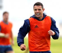 Dan Carter trains with the Blues. Photo: Getty Images