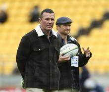 Highlanders coaches Aaron Mauger (left) and Tony Brown. Photo: Getty Images