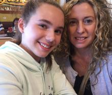 Sophie Barton with her mother, Nola Paterson-Barton, who was killed in a car crash in November...