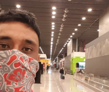 Kiwi man Kepa Harris, 29, faces a month eating pizza or subway in Sao Paulo's transit lounge...