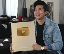 Dunedin vlogger Kimpoy Feliciano received a gold award from YouTube for gaining one million...