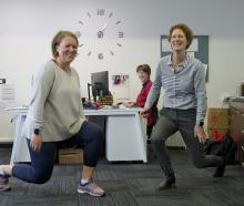 Looking from her desk, Bronwyn Hughes, of the University of Otago School of Physical Education,...