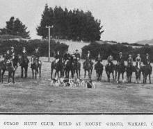 The meet of the Otago Hunt Club at Mount Grand, Wakari, on July 7, 1920. — Otago Witness  20.7...