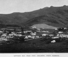 Sawyers Bay, near Port Chalmers on Otago harbour. — Otago Witness, 6.7.1920. COPIES OF PICTURE...