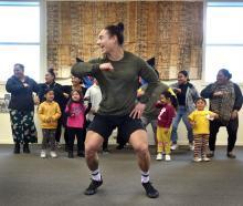 Dunedin researcher Troy Tararo-Ruhe joins members of the Dunedin Pasifika community in dance...