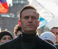 Alexei Navalny taking part in a rally in Moscow in February. Photo: Reuters