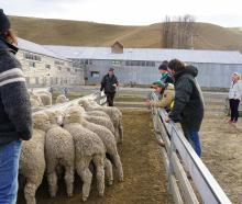 Bill Sutherland, of Benmore Station, talks genetics during the Nextgen Muster for young people to...