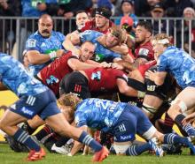 The Crusaders and Blues have the best chance of claiming the Super Rugby Aotearoa title. Photo:...