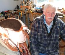 Freshford man Barry Cox sits in the shed at the back of his house which he calls the smallest...