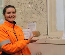 New Zealand Heritage Properties Limited principal archaeologist Megan Lawrence shows one of her...