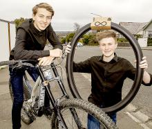Cashmere young enterprise students Zak Shearer (left) and Josh Baker. Photo: Geoff Sloan