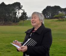 Chairwoman of the national cross-country championships local organising committee Margaret Knox...