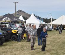 Otago Field Days at Palmerston in April last year. Photo: Gregor Richardson