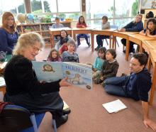 Children's writer-illustrator Robyn Belton reads her book Herbert the Brave Sea Dog to Purakaunui...