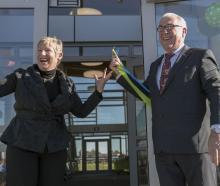 Christchurch Mayor Lianne Dalziel with her husband Rob Davidson.  Photo: Newsline CCC
