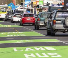 The northbound bus lane on Main North Rd, between Winston Ave and Sawyers Arms Rd, is almost...