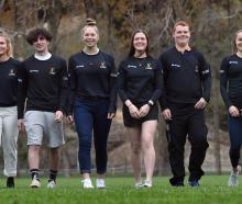 Otago Academy of Sport athletes (from left) Ben Mason (19), Dyani Shepherd-Oates (20), James...