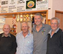 Club stalwarts (from left) Jim Morgan, Richard Morgan, Graham Sinnamon and Lionel Sinnamon at the...