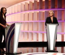 Jacinda Ardern and Judith Collins during the TVNZ debate last week. Photo: Getty Images