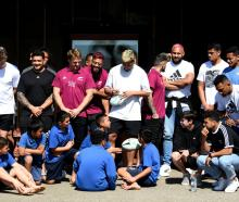 All Blacks players visit Mataatua Marae in Whakatane today. Photo: Getty